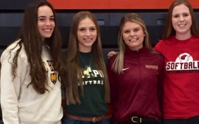 4 College-Bound Seniors Sign on National Letter of Intent Day